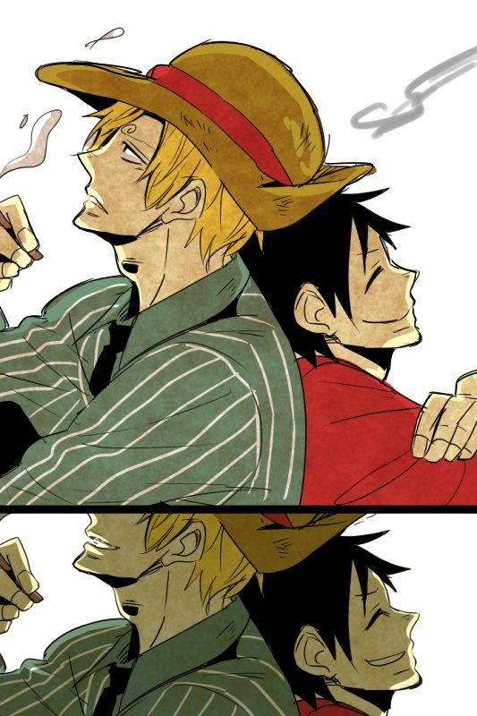 39 best OP Sanji x Luffy images on Pinterest | One piece ...  One