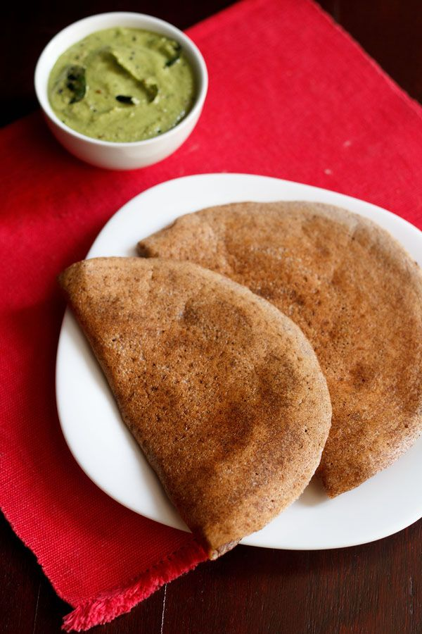 ragi dosa – fermented dosa recipe of ragi or finger millet crepes. nutritious breakfast rich in protein, calcium and fibre. vegan as well as gluten free.  #glutenfree #vegan #dosa #ragi #crepes