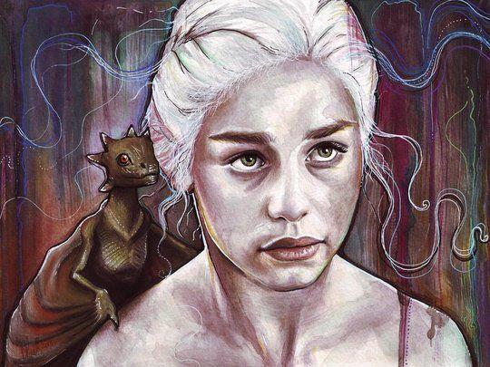 Daenerys Targaryen - Art Print by Olga Shvartsur 18.00