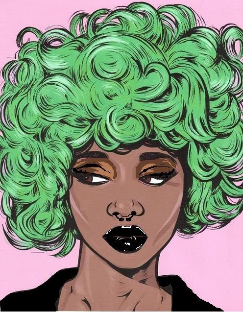 fyblackwomenart:  not sure of the artist, but this is my 'alternative' spin on a great piece: : submitted by nu-voids.tumblr.com: :