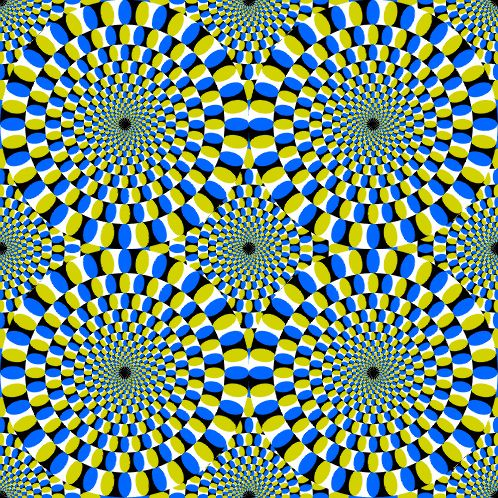 optical illusions eye tricks | wonder how it tricks your eyes like that? P.S Don't look at it for ...