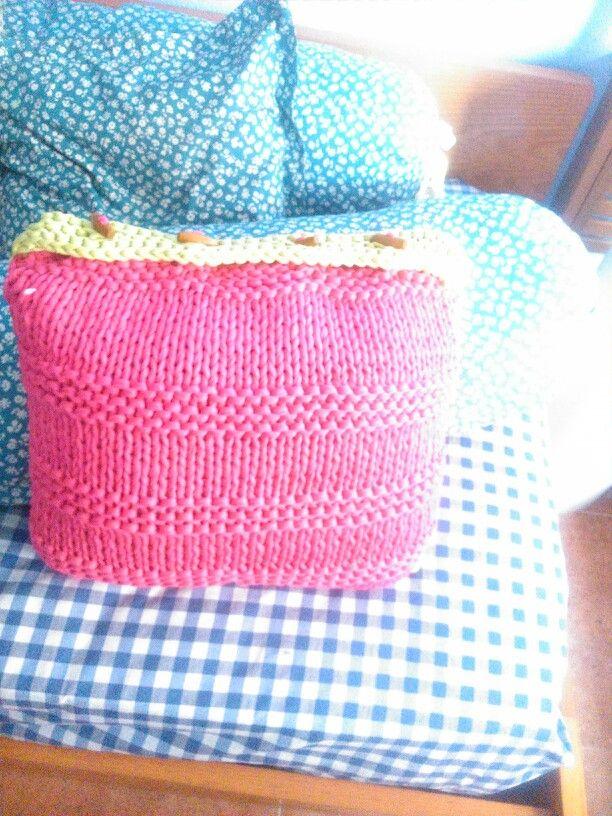 Cojin en trapillo todo hecho por mi pinterest trapillo for Cojines de trapillo