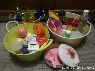 "Making potions in the bath (or water tray) from sunnydaytodaymama ("",)"