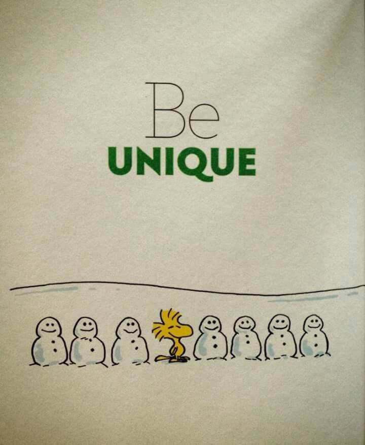 Be Unique ⛄️⛄️⛄️