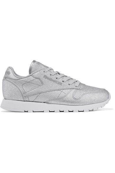 REEBOK Classic metallic leather sneakers. #reebok #shoes #sneakers