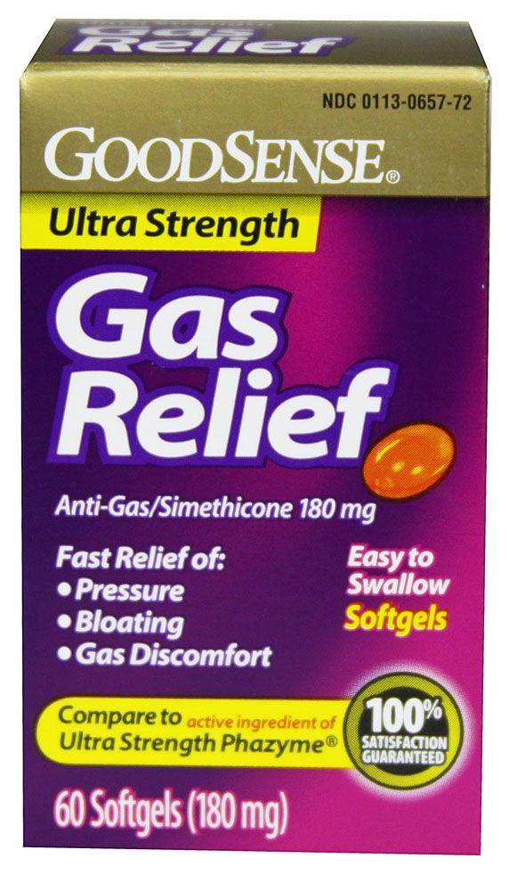 Good Sense Gas Relief Ultra Strength Simethicone -- 180 mg ...