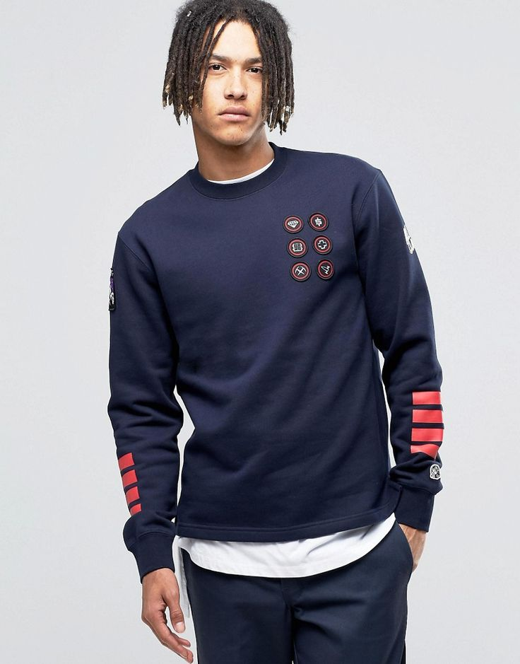 Image 1 of Billionaire Boys Club Sweatshirt With Badges
