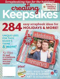 #Nov/Dec 2012 issue #Creating Keepsakes