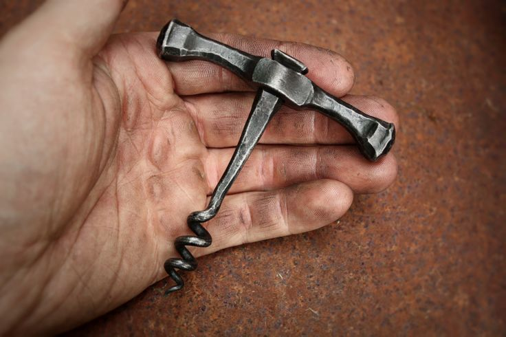 Forged wine corkscrew