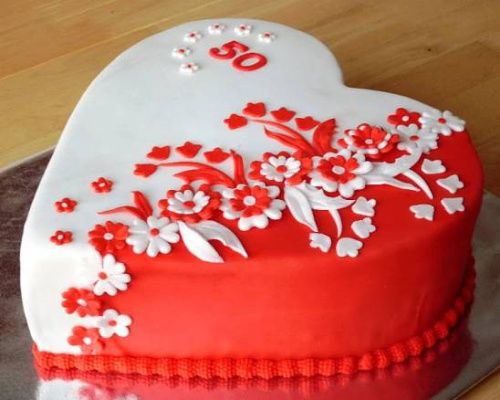 srdce k 50. , Narozeninové dorty | Dorty od mamy