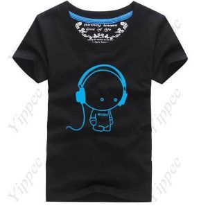 Summer Casual Animation Purity Crew Neck Short Sleeve LED T-Shirt T-Shirt for Boy Men  $12.95