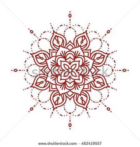 Ligne mehndi mandala. Conception complexe au henné et fleuri. Modèle de cahier de coloriage. …   – Tattoo & Piercing