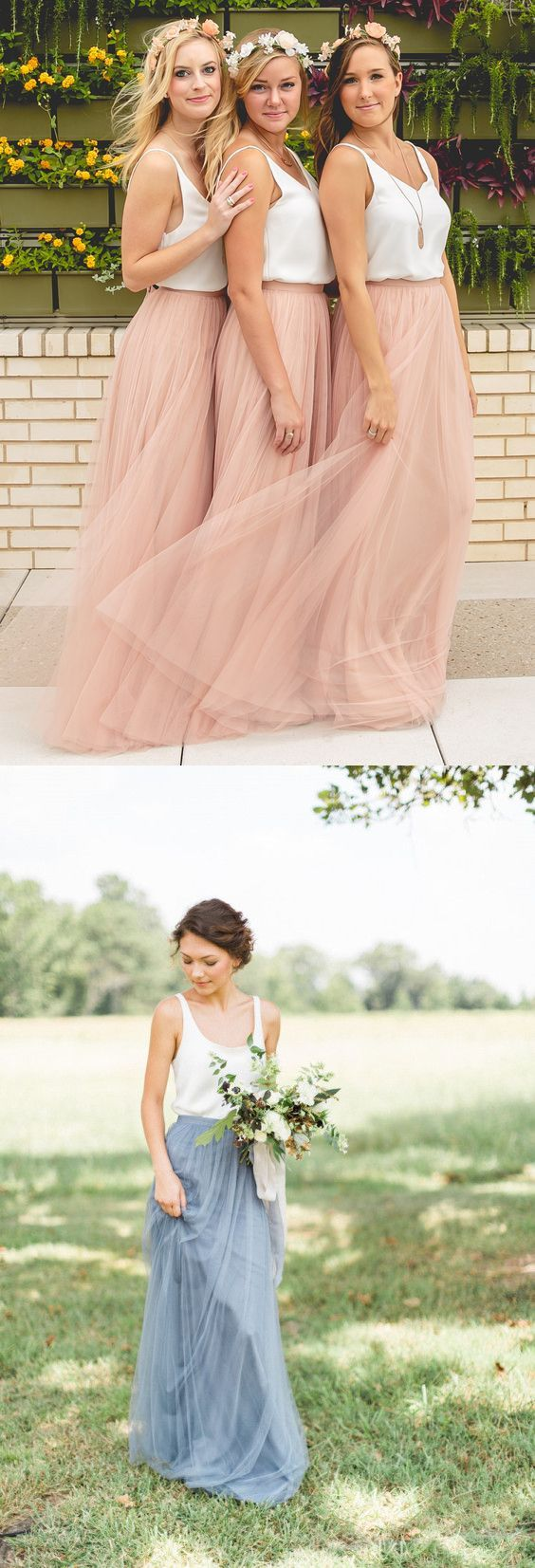 blush pink bridesmaid dresses, long bridesmaid dresses, 2016 fall wedding dresses,wedding tutu skirt