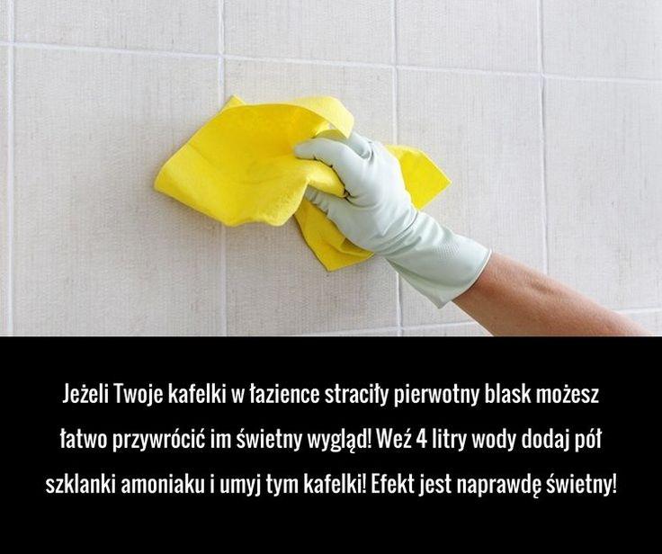 Jeżeli Twoje kafelki w łazience straciły pierwotny blask możesz łatwo przywrócić im świetny wygląd! Weź 4 litry wody dodaj pół ...