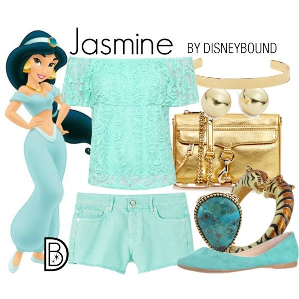 Jasmine by leslieakay on Polyvore featuring WearAll, MANGO, Rebecca Minkoff, Barse, Kenneth Jay Lane, Lord & Taylor, Jennifer Fisher, disney, disneybound and disneycharacter