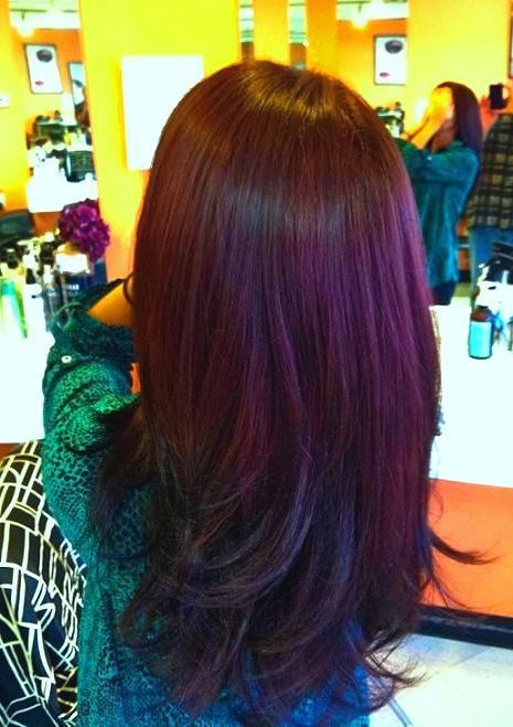 """Vidal Sasson """"London Lilac"""" w/ Splat """"Purple Desire"""" highlights...took a couple tries to get it just right ^_^ love my color!"""