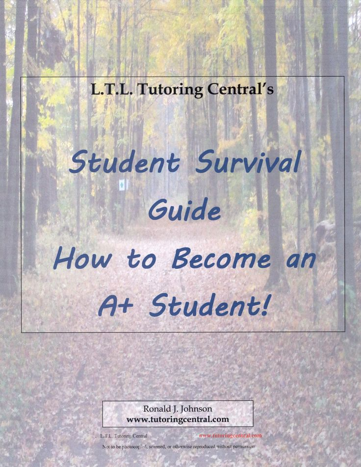 FREE booklet that will help you, or your child, in your studies. Contains:   First Day of Class, Scheduling, Goal Setting, Reading for Meaning, SQ3R, Notebooks & Note-taking, Math Practice, Exam Strategies, What to do at school, Some questions to ask, Homework Habits, 4 things to do EVERY night as part of your homework schedule.