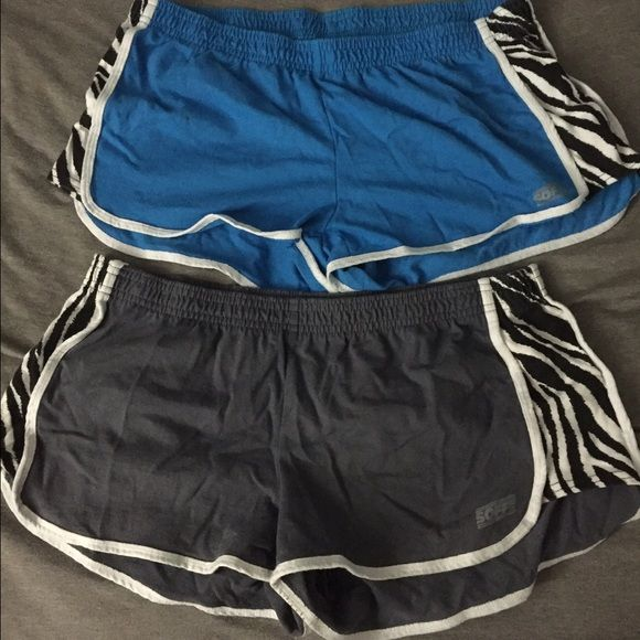 Soffee shorts bundle. Soffee shorts bundle. Blue and dark gray. Zebra print down sides. Size XL. Good condition. Soffe Shorts