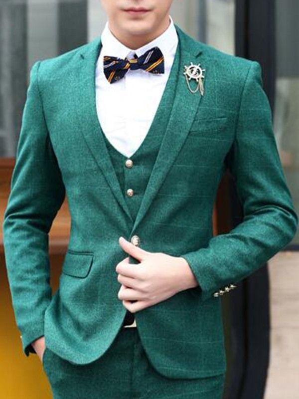Vogue Three-Piece Men's Suit - Green