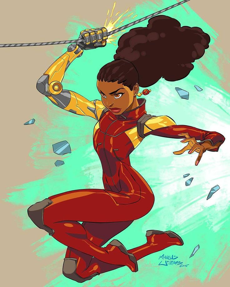 """""Young Misty Knight"", illustrated by @marcusthevisual . PLEASE TAG THE ARTIST WHEN REPOSTING THIS ARTWORK . . #marvelcomics #marveluniverse #marvelshots…"""