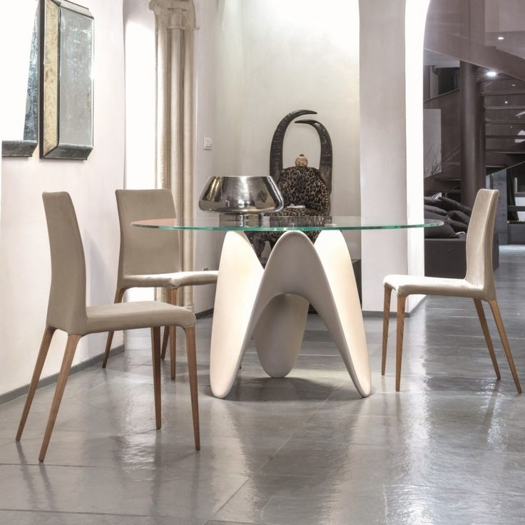 Tonin Casa Tisch Gaya   Dieser Extravagante Runde Tisch Ist Durch Das  Architektonische Gestell Ein Absolutes Highlight. Passt Perfekt Zu  Holzböden.