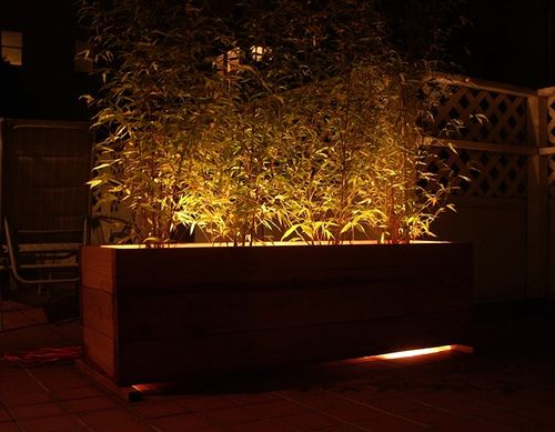 Let's think about lighting! Bamboo Planter-night by kshibano, via Flickr