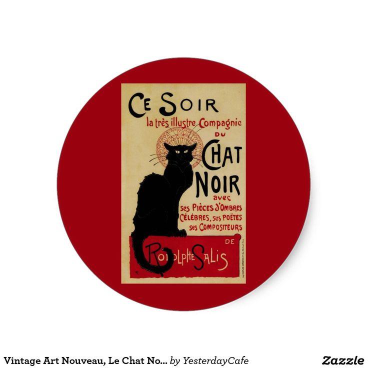 Arte Nouveau do vintage, Le Conversa Noir Adesivo