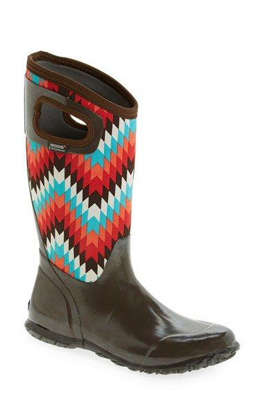 Bogs 'North Hampton' Graphic Print Waterproof Boot (Women) available at #Nordstrom