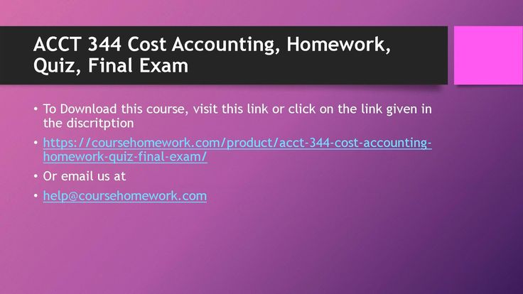 Buy accounting homework