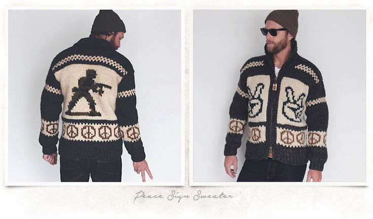 Peace sign, toy soldier sweater