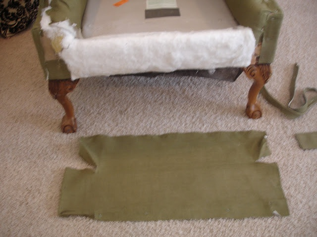 how to easily reupholster a chair with minimal sewing