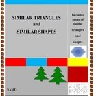 Similar triangles and shapes, includes Pythagoras' Theorem, calculating areas of similar triangles, one real life application, circle theorems, cha...