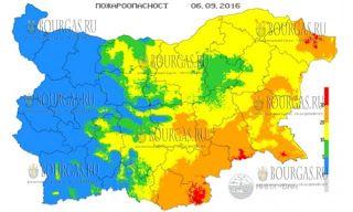 В 5 регионах Болгарии объявлен красный код пожарно...