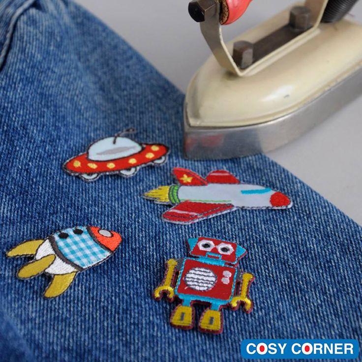 Γλυκύτατα μπαλώματα που σιδερώνονται στα ρούχα εύκολα και γρήγορα. Τώρα μπορείτε να ανανεώστε το αγαπημένο ρούχο του παιδιού σας ή ακόμη και την σχολική τσάντα. Η τέλεια λύση για φθαρμένα και σκισμένα ρούχα. http://goo.gl/SRLqeD