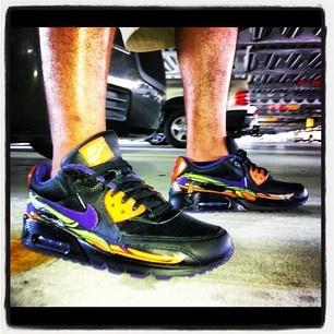 ... Day of the Dead sneakers shoes kicks jordan lebron Nike Air Max 90s ... f6e407fea42b