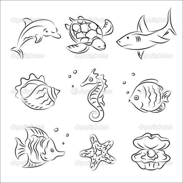 12 Ocean Animals Drawing Animals Drawing Ocean Oceananimaldrawings Sea Creatures Drawing Sea Drawing Easy Animal Drawings