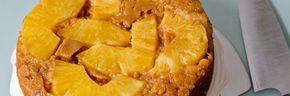 Omgekeerde ananas karamel taart