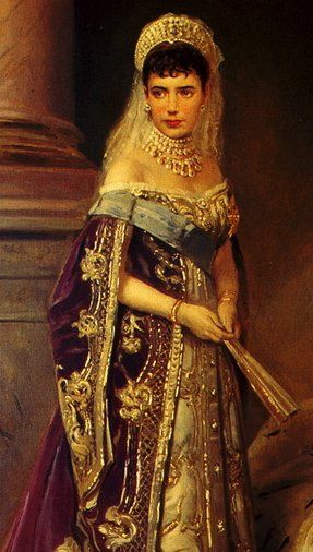Maria Feodorovna. Love her court gown...tried to find a picture of the actual gown but no such luck.