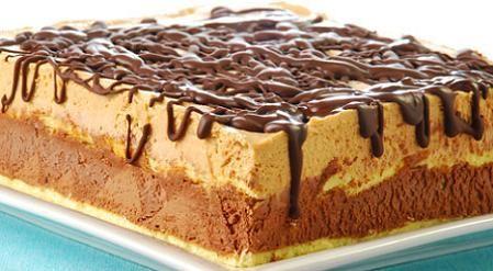 Torta helado de chocolate y dulce de leche