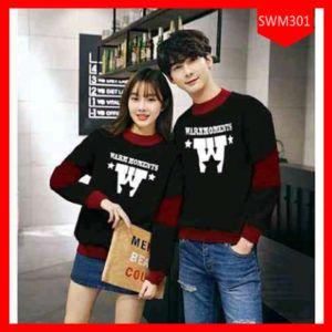 Fashion Sweater  Couple Warm Kombinasi Terbaru