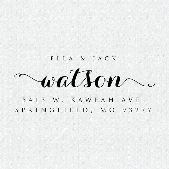 Return Address Stamp, Return Address Stamp Self Ink, Address Stamp, Bridal…