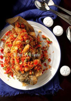 Just Try & Taste: Gurame Garing Siram Cabai, Bawang, Garam