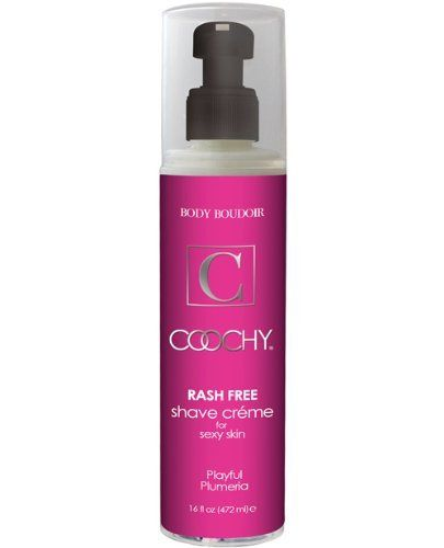 New Coochy Body Rashfree Shave Creme - 16 oz Plumeria by Coochy Crème. $24.25. Coochy Rash Free Shave Cream is specially formulated to protect skin and provide a smooth, moisturizing shave to any part of the body. It is designed for all skin types, including sensitive skin. Appropriate for use on legs, underarms, pubic area, face, and body. Coochy is also a great moisturizing conditioner that softens even the coarsest facial and body hair. It is a fabulous hair c...