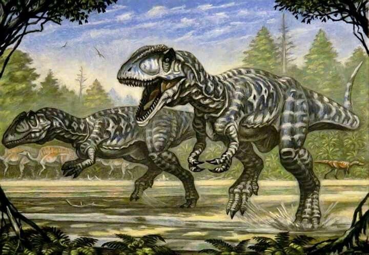 *Carcharodontosaurus.  Artwork by Andrej Belov