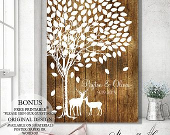 Wedding Signs, Guest Book Alternative, Wood Guest Book Tree, Wedding Canvas, Wedding Tree, Wedding Gift, Bridal Shower Gift, Wedding Poster