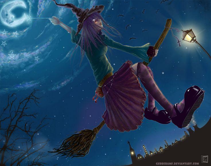 Witch by gerberaMF.deviantart.com on @DeviantArt