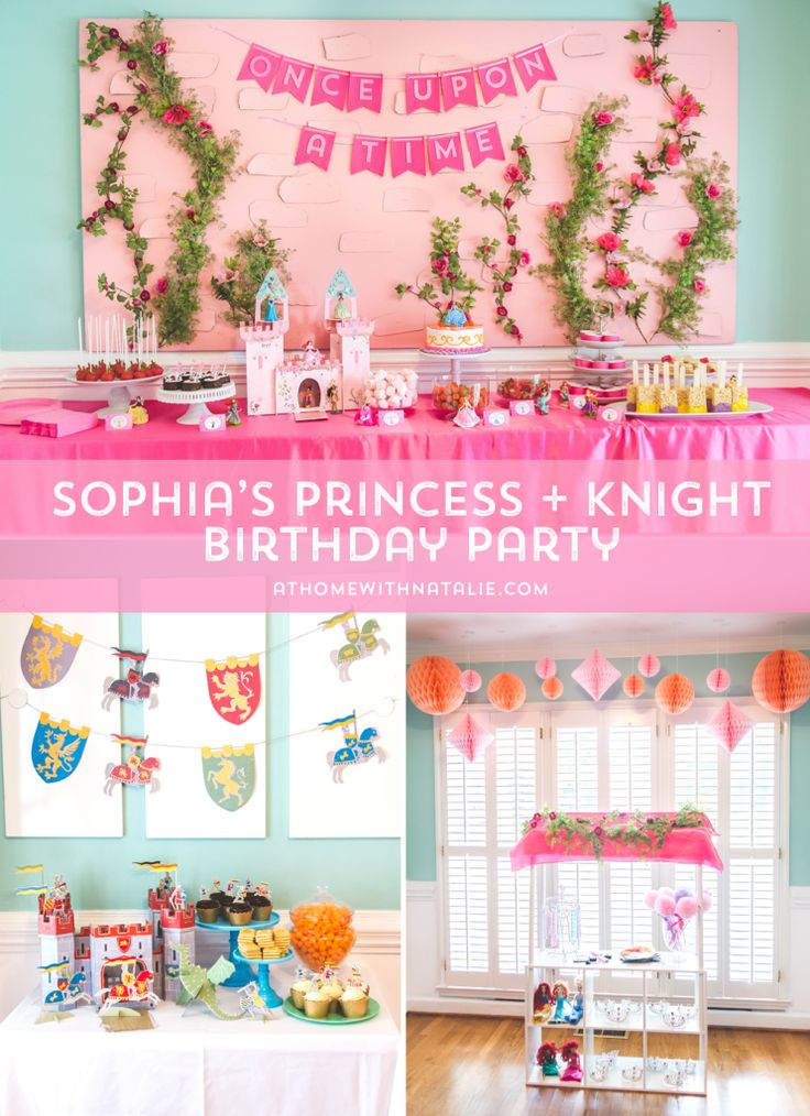 Sophia's Princess and Knight 7th Birthday Party