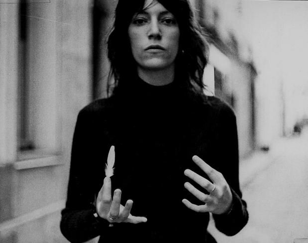 "the fearless and stunning patti smith. loved JUST KIDS. ""In art and dream may you proceed with abandon."""