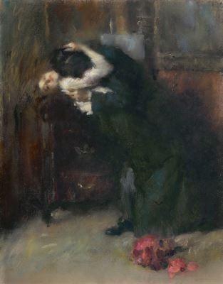 Ambrogio Antonio Alciati Vercelli (1878-1929) The Kiss, pastel on paper. Collection Simonis & Buunk, The Netherlands