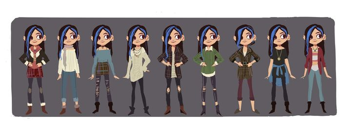 """ArtStation - Character design for short film """"Bule like Cherry"""" all characters Belong to Daniel Dolci:), TB Choi"""